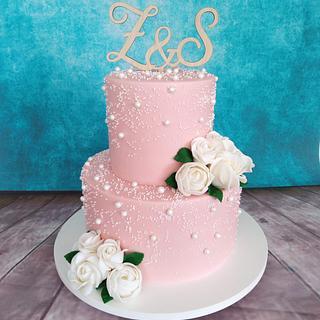 Wedding pearl cake