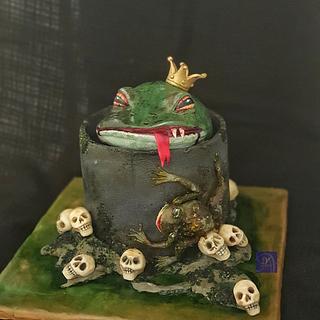 Scaring Frog Cake