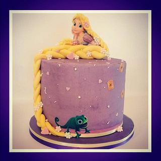 Rapunzel - Cake by SarahN