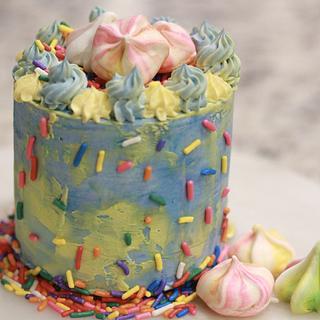 Sprinkle Mini Cake - Cake by pam02