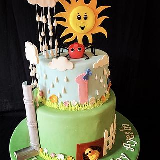 Itsy bitsy spider.... - Cake by The Hot Pink Cake Studio by Ipshita
