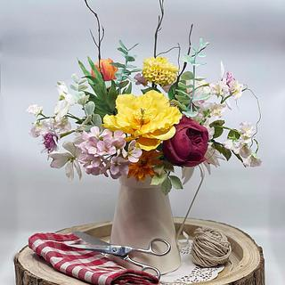 Sugar flowers in bloom