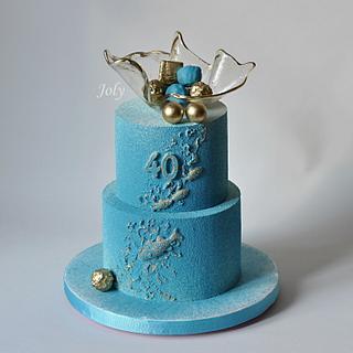 Birthday cake for fishermen
