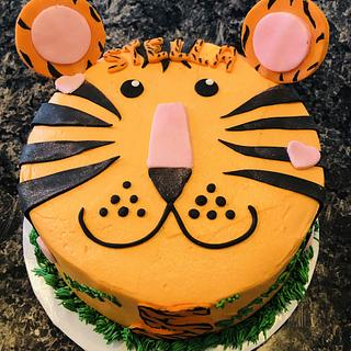 Cartoon tiger birthday