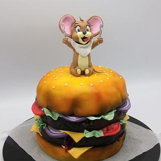 Hamburger  - Cake by Olina Wolfs