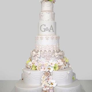 Wedding flovers cake. - Cake by Torturi Mary