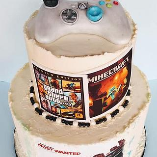 Gaming cake for my grandson