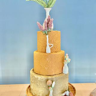 Terracotta and Lavender wedding cake - Cake by Lucky Bear Cakes