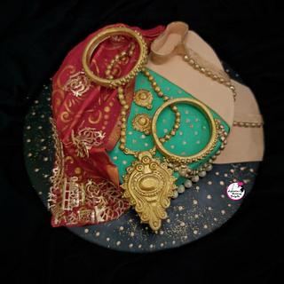 Traditional Indian Wedding Theme Cake - Cake by Sayantanis Culinary Delight