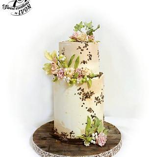 Pale Pastel Wedding Cake
