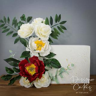 Intimate wedding cake - Cake by Designer Cakes By Timilehin
