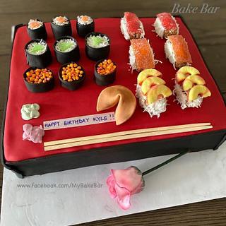 Sushi platter cake
