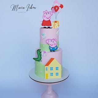 Peppa pig - Cake by Maira Liboa