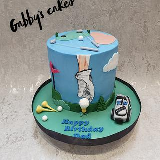 Golf cake - Cake by Gabby's cakes