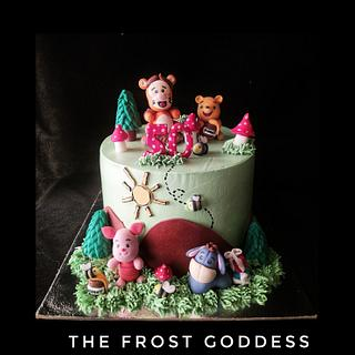 Winnie the pooh cake  - Cake by thefrostgoddess