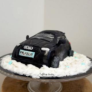Snowy audi:::))) - Cake by SojkineTorty