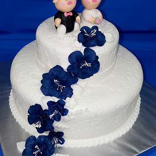 Wedding cake with pigs - Cake by Sunny Dream