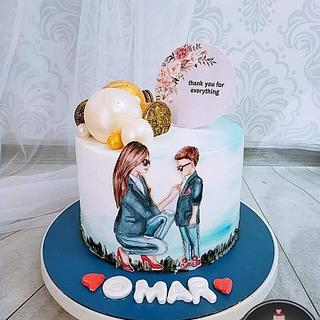Mom and her son cake - Cake by Jojo