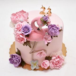 flamingo cake - Cake by Silvia