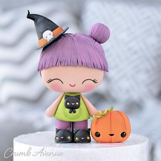 Cute Witch Cake Topper