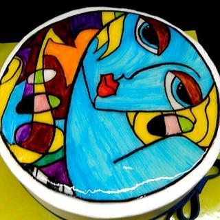 Blue girl - Cake by Vanilla B art