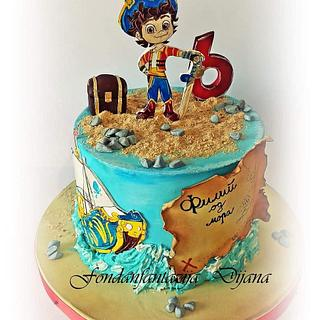 Santiago of the Seas themed cake - Cake by Fondantfantasy