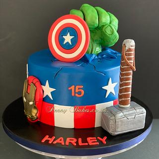Avengers cake - Cake by Penny Sue