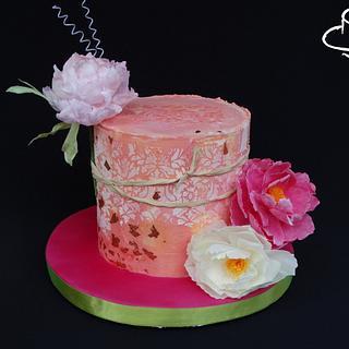Peony cake - Cake by Diana
