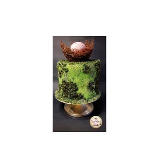 Easter moss cake