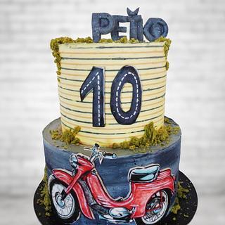 Retro motorcycle - Cake by Veronika