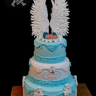 Anjel wings baby cake