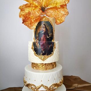 Immaculate conception  - Cake by Eliana Vasileva