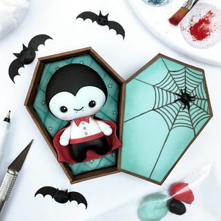 Cute Dracula Cake Topper