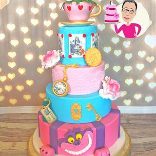 Alice in Wonderland cake - Cake by Cupcakes la louche wedding & novelty cakes