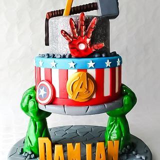 Avengers - Cake by TartaSan - Damian Benjamin Button