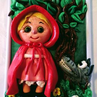 Little Red Riding Hood and the Wolf - Cake by Édesvarázs