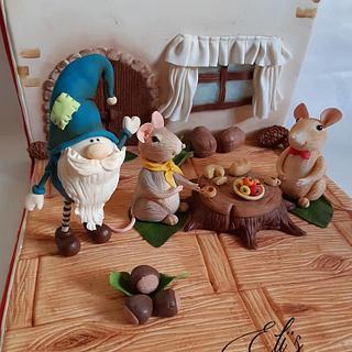 Topo di Campagna e Topo di Città - Cake by Elisabetta Pepe