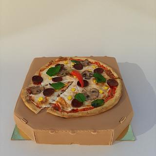 Pizza box cake - Cake by Szandra