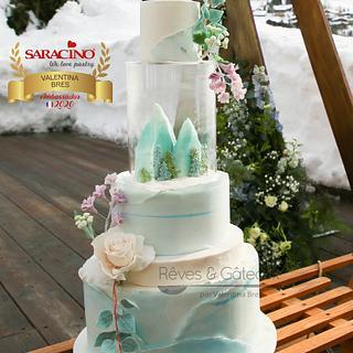 Pièce montée for a winter wedding - Cake by Rêves et Gâteaux