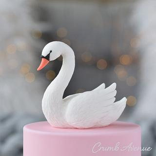 Swan Cake Topper - Cake by Crumb Avenue