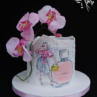 Orchid cake - Cake by Diana