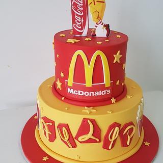 Mc cake🍔🍟🤡 - Cake by MarinaM