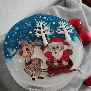 Santa gelatin cake - Cake by Kaliss