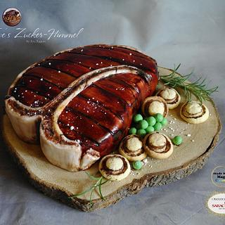 T-Bone Steak Cake