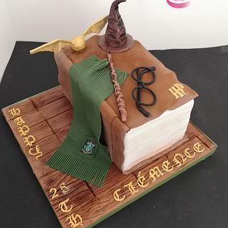 Harry Potter - Slytherin house - Cake by Ruth - Gatoandcake