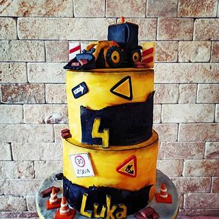 Construction cake - Cake by Cakes_bytea