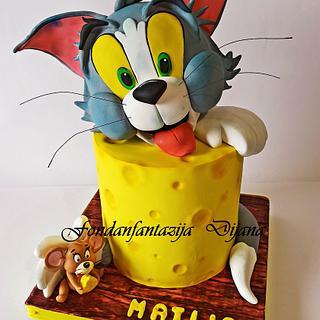 Tom and Jerry themed cake - Cake by Fondantfantasy