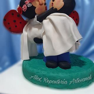 Las Vaquitas de San Antonio se casan! - Cake by Alexrepostería