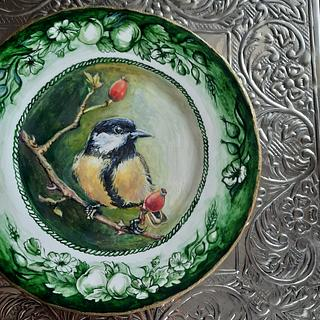Bird on sugarplate