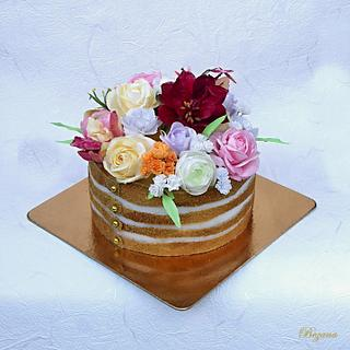 Cake with flowers of wafer paper III